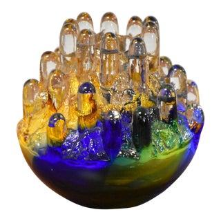 Crystal Series Polar Glass Candlestick Holder by Goran Warff For Sale
