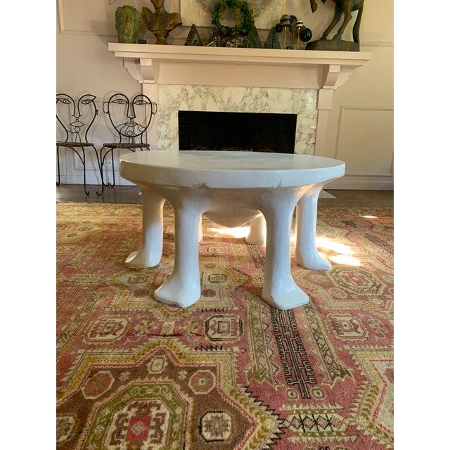 Postmodern Postmodern John Dickinson 6-Legged African Plaster Coffee Table by David Sutherland For Sale - Image 3 of 8