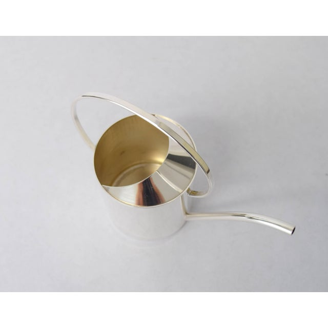 Mid-Century Modern Exquisite Danish Silver Plate Creamer For Sale - Image 3 of 9