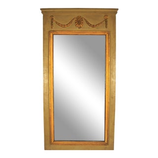 Period Louis XVI Painted Trumeau Mirror For Sale