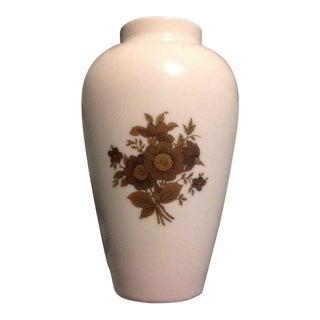 Rosenthal Germany Rose White Porcelain Gold Flower Vase For Sale