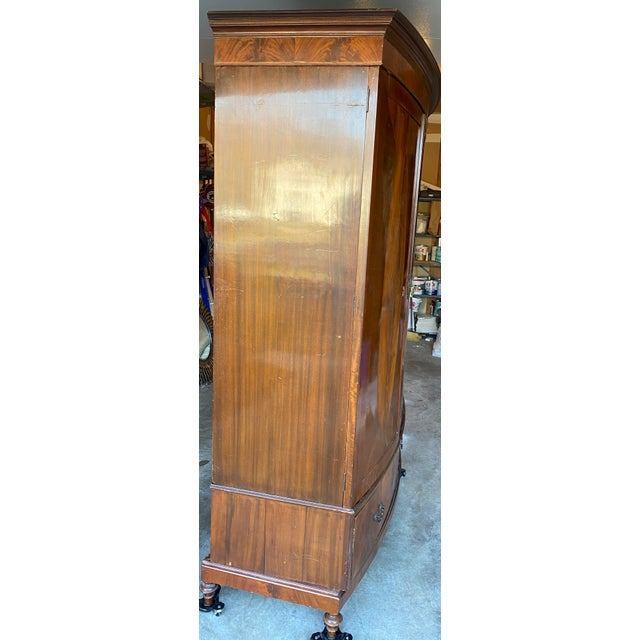 Mid 20th Century Mid 20th Century Antique Mahogany Armoire For Sale - Image 5 of 7