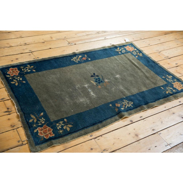 "Old New House Antique Peking Rug - 3'1"" X 4'9"" For Sale - Image 4 of 13"