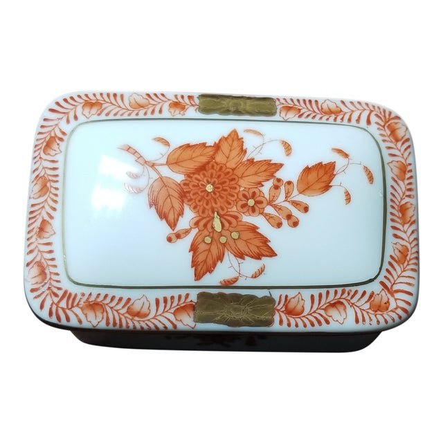 Herend Chinese Bouquet Trinket Box For Sale