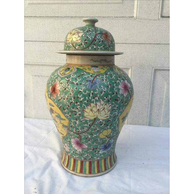 Chinese Chinoiserie Colorful Dragon Ginger Jar - Image 7 of 9