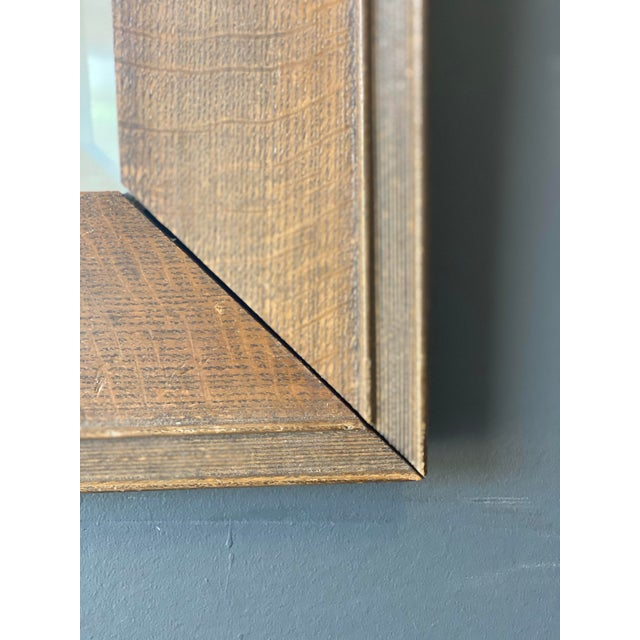 19th Century Oak Mirror With Hats Hooks For Sale In New York - Image 6 of 10