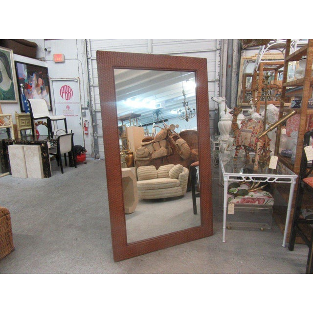 Tall Rattan Woven Mirror - Image 6 of 8