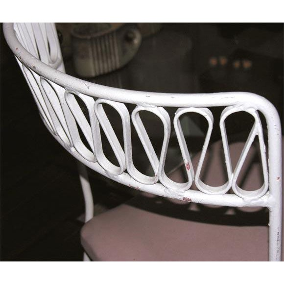 White Tempestini for Salterini Wrought Iron Ribbon Chairs - Set of 14 For Sale - Image 8 of 10