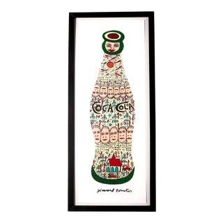 Howard Finster Coke Bottle Print For Sale