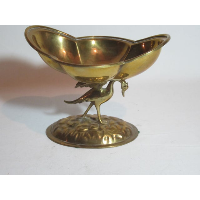Solid Brass Bird Compote - Image 5 of 6