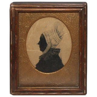 Early 19th Century Silhouette Portrait of Woman For Sale