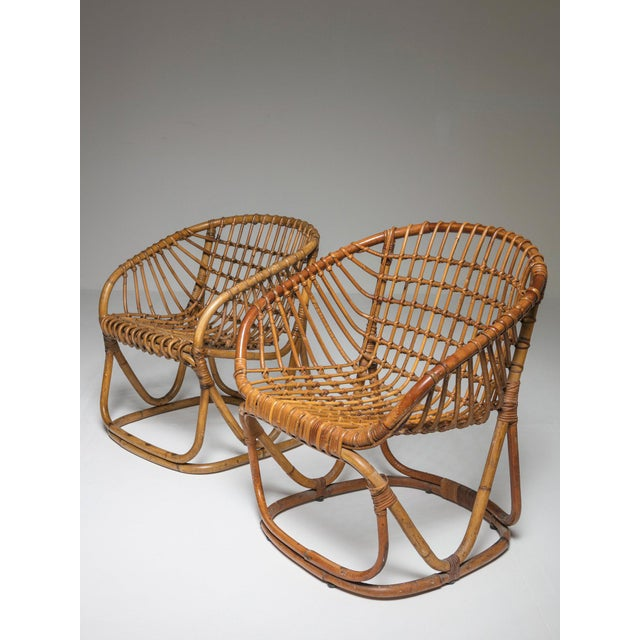 Wicker Pair of Wicker Chairs by Tito Agnoli for Bonacina For Sale - Image 7 of 7