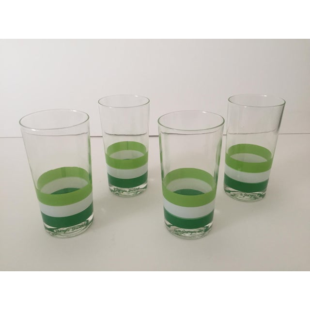Mid-Century Modern Georges Briard Mid Century Tri Striped Green Tumbler Glasses - Set of 4 For Sale - Image 3 of 6