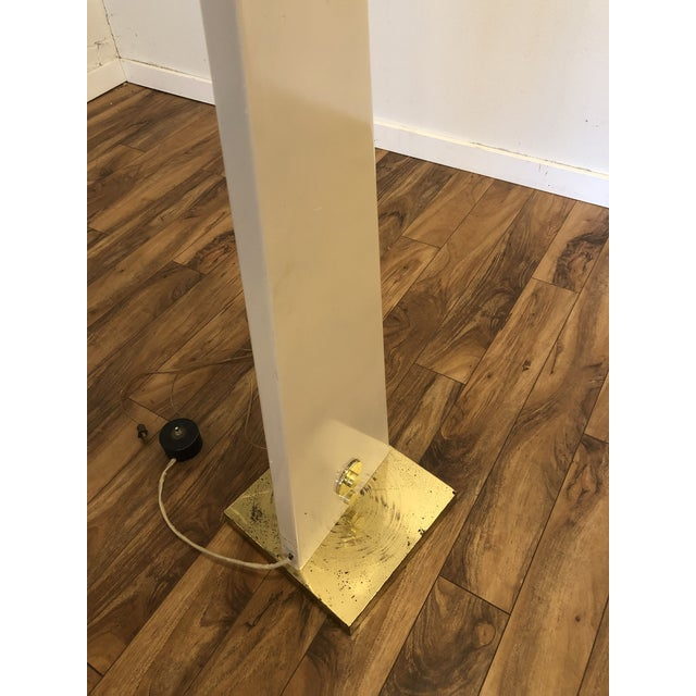 Metal Vintage Porcelain Floor Lamp With Three Lighting Options For Sale - Image 7 of 13