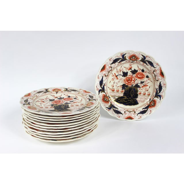 Off-white 19th Century English Imari Dessert/ Salad Plates - Set of 12 For Sale - Image 8 of 8