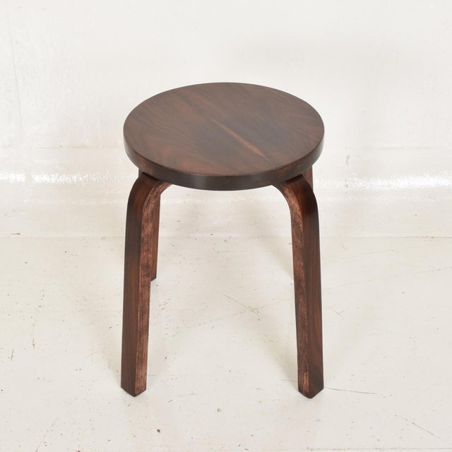 Danish Modern Mid Century Danish Modern, Rare Rosewood Stool by Alvar Aalto for Artek For Sale - Image 3 of 7
