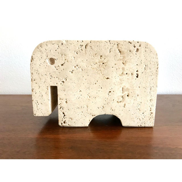 Fratelli Mannelli Travertine Elephant 1965 - Beautiful solid travertine stone - Similar pieces also seen on 1stdibs -...