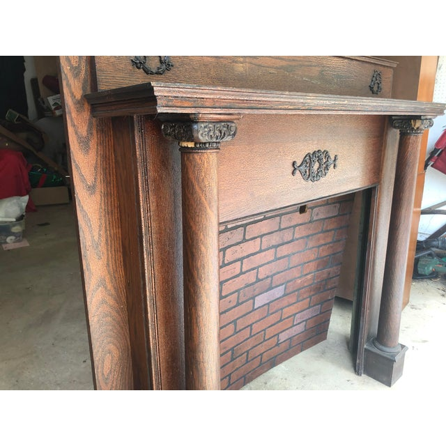 Early 20th Century Fireplace Surround Mantel For Sale - Image 10 of 13