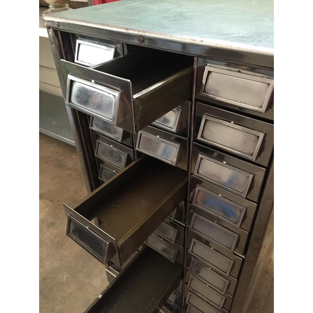 Vintage Mid-Century Metal Library Cabinet For Sale - Image 10 of 11