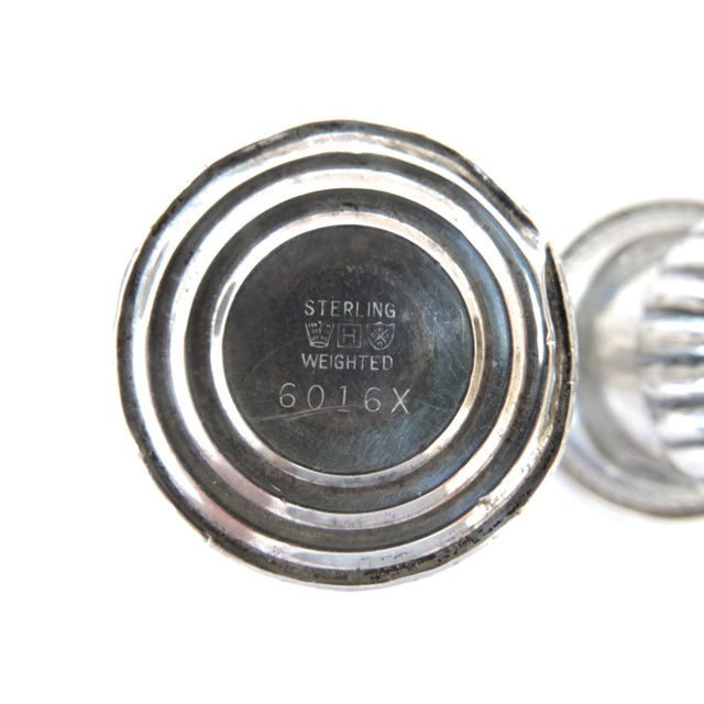 M.Fred Hirsch Sterling Silver Toothpick Holders/Candle Holders For Sale - Image 4 of 4
