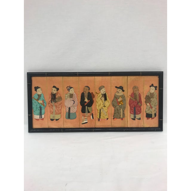 19th Century Framed Chinoiserie Figures For Sale - Image 12 of 12