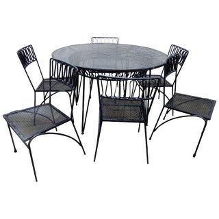 Salterini Ribbon Dining Set 7-Piece by Maurizio Tempestini For Sale