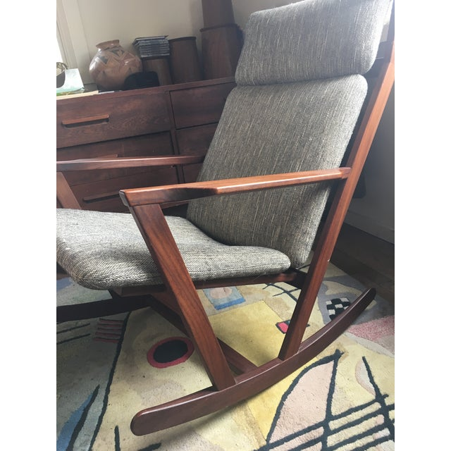 Mid-Century Modern Poul Volther Rocking Chair For Sale - Image 3 of 9