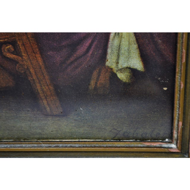 Early H. Zabateri Framed Last Supper Print - Image 9 of 10