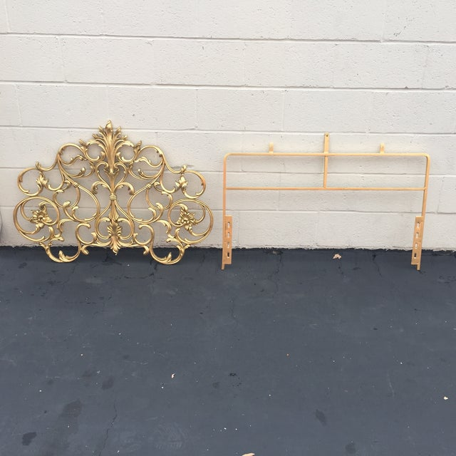 Twin Gold Head Boards & Frames - 4 Pieces - Image 2 of 6