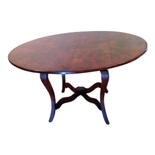 "Vintage English Dining Table 54"" For Sale"