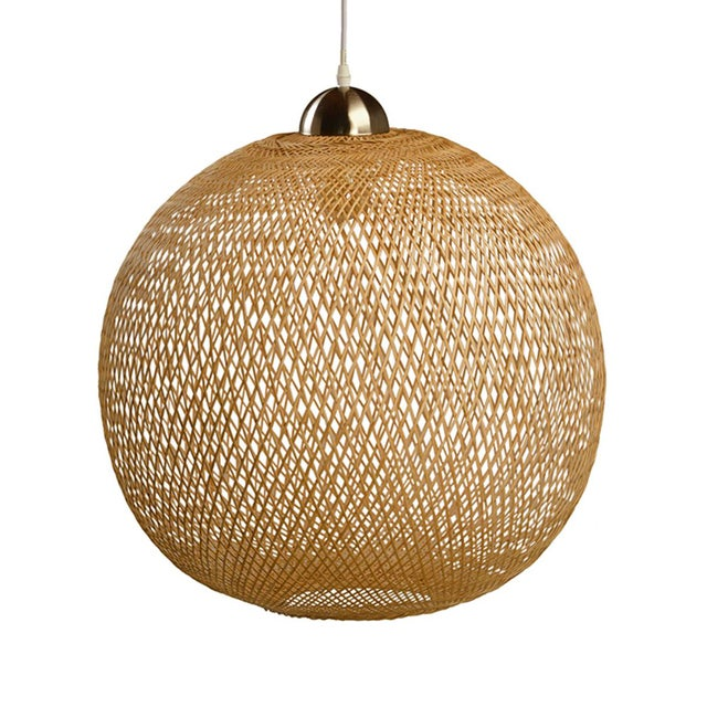 Wicker globe lantern with an open bottom and a chrome top with fixture. This lantern is lightweight and beautifully hand...