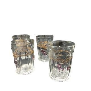 "Northwood ""Plums and Cherries"" Tumblers - Set of 4 For Sale"