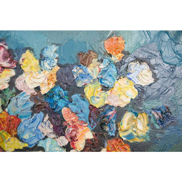 1960s Floral Still Life by Zerva Duffer For Sale - Image 4 of 5