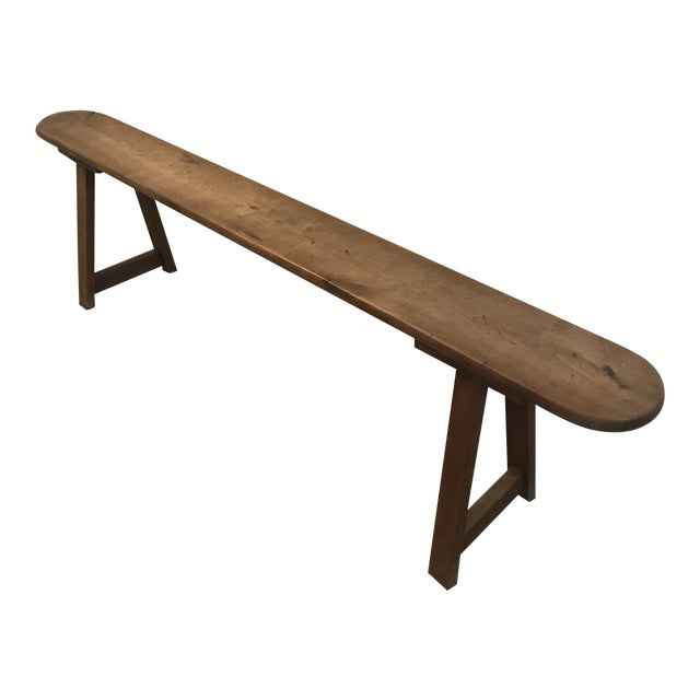 Vintage Primitive Long Handmade Bench For Sale