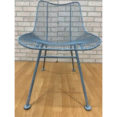 Metal Mid Century Modern Russel Woodard Sculptural Collection Patio Chairs - Pair For Sale - Image 7 of 11