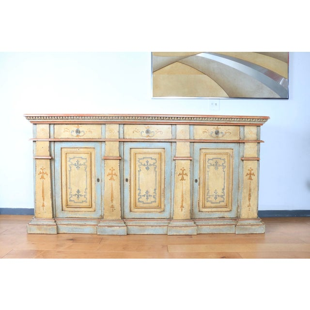 1970s Hand Painted Italian Cabinet For Sale - Image 13 of 13