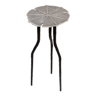Lilium Silver Leaf Side Table For Sale