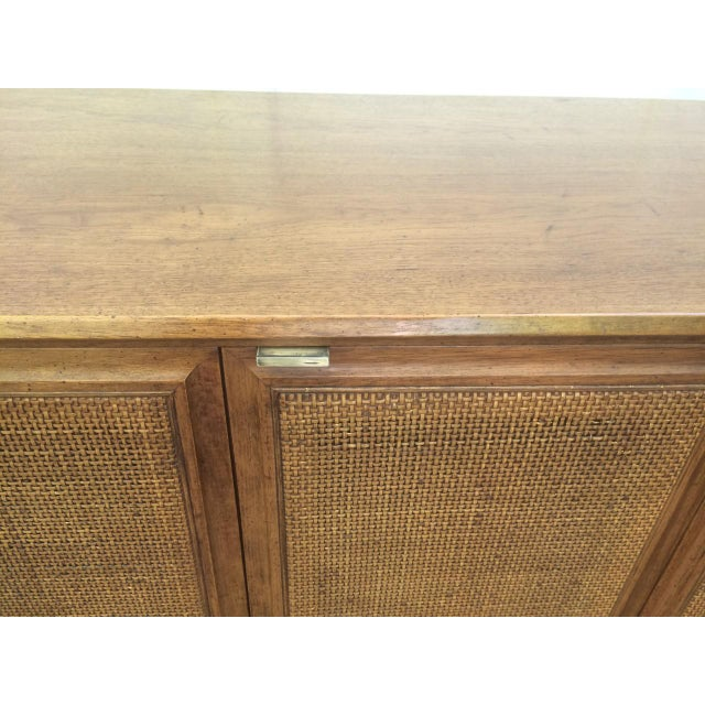 Brown Founders Cane Paneled Credenza For Sale - Image 8 of 9