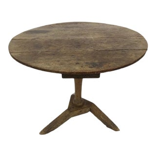 French Provincial Elm Pedestal Table For Sale
