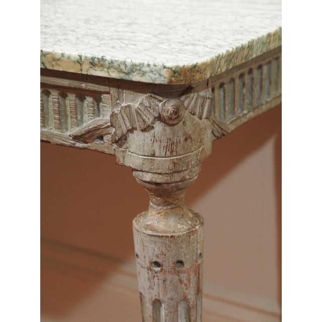 Marble Louis XVI Console Table For Sale - Image 7 of 10