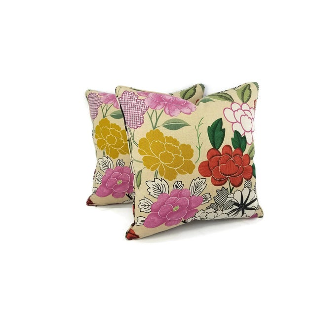 Manuel Canovas Misia Linen Printed Self-Welt Pillow Cover For Sale - Image 4 of 8