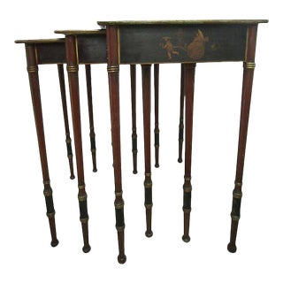 19th-C. Chinoiserie Nesting Tables - Set of 3 For Sale