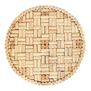 Lazy Susan Revolving Tray With Napa Valley Wine Corks From Joseph Phelps For Sale