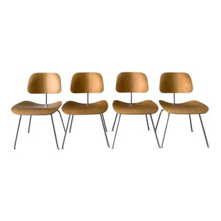 Herman Miller Eames Dcm Chairs - Set of 4 For Sale