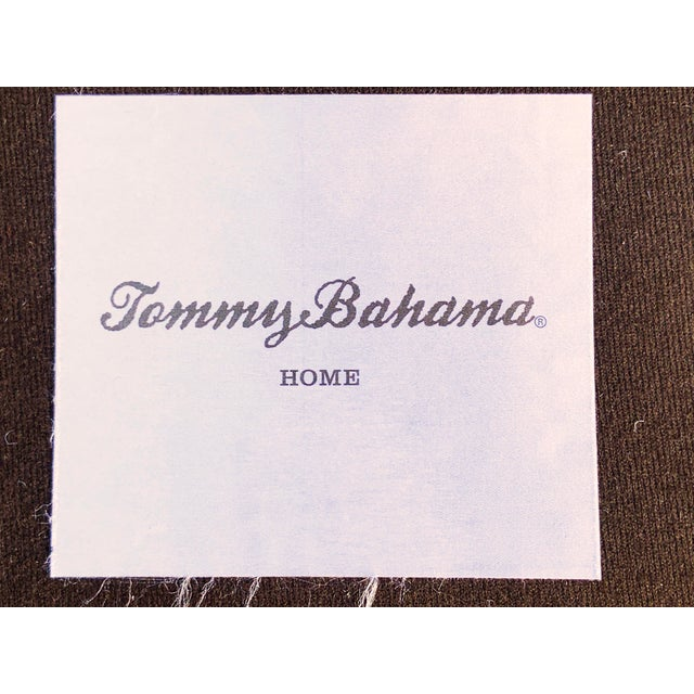 Brown Tommy Bahama Manchester Leather Sofa For Sale - Image 8 of 13