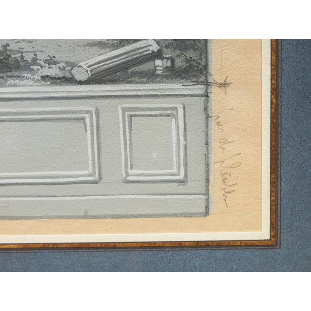 Early 19th Century An early 19th century grisaille study for a wallpaper panel For Sale - Image 5 of 6