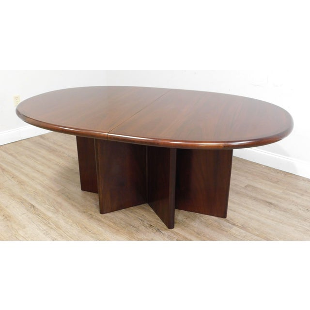 Danish Modern Oval Teak Expandable Dining Table by Ansagar Mobler For Sale - Image 11 of 13