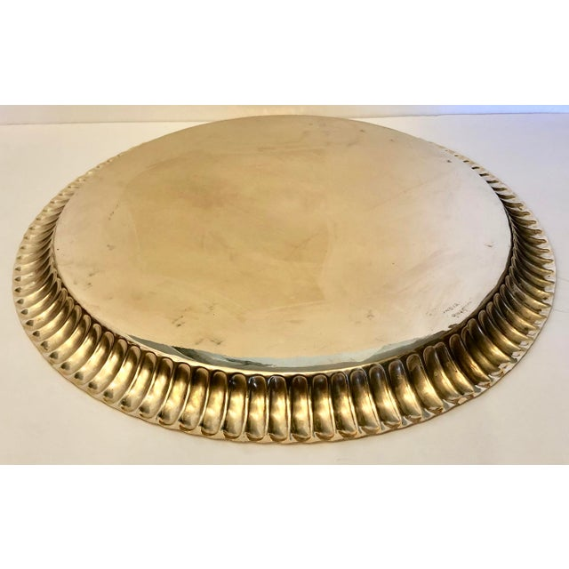 1960s Large Vintage Brass Tray From India For Sale - Image 5 of 8
