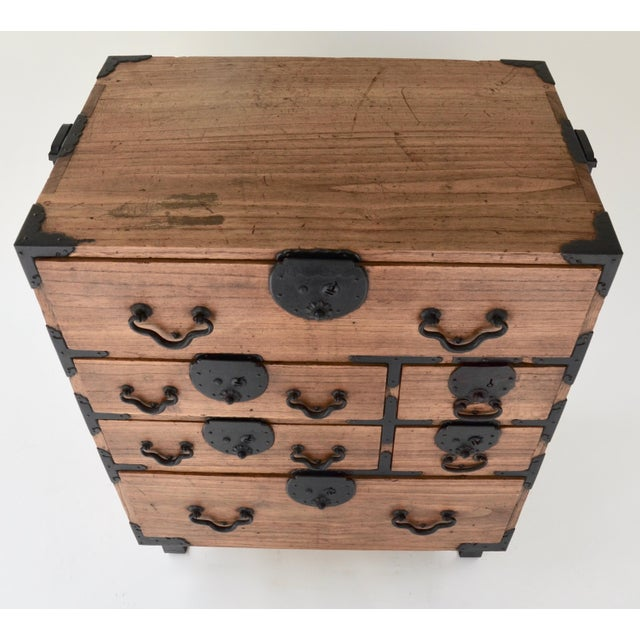 19th Century Japanese Tansu With Hand Forged Hardware For Sale In Los Angeles - Image 6 of 11