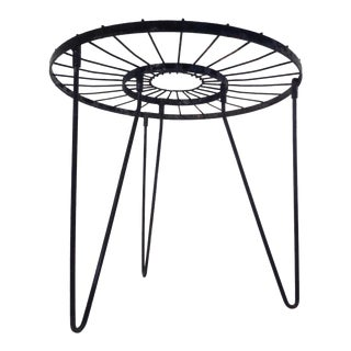 Mid Century Modern Umanoff Style Atomic Sunburst Iron Garden Table Plant Stand For Sale